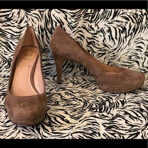 Vintage Vince Camuto Suede Platform Heels - 10B
